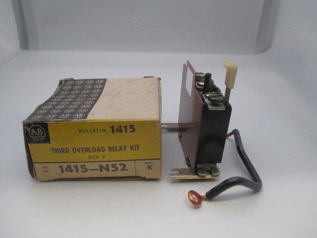 Allen Bradley 1415-N52 Third Overload Relay Kit