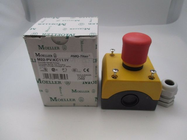Moeller M22-PV-KC11/IY Emergency Stop Switch  new