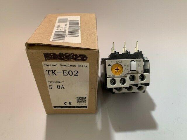 Fuji TK-E02 5-8A Overload Relay new