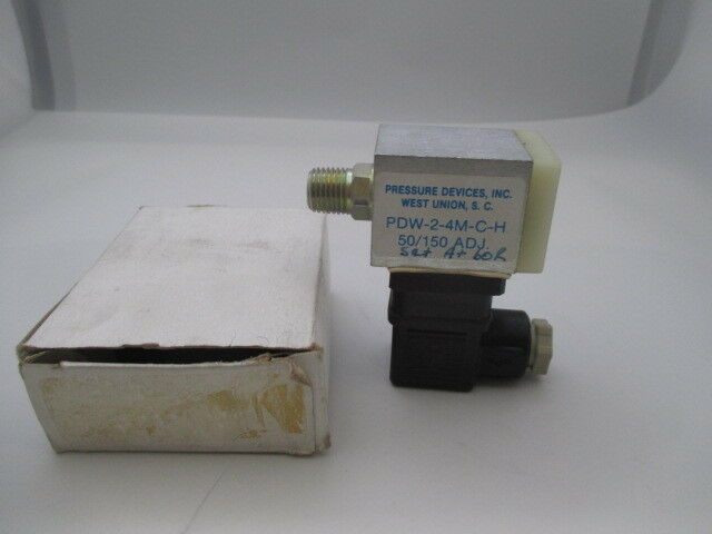 Pressure Devices Inc PDW-2-4M-C-H Pressure Switch new