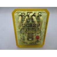 Idec RY4S-UL 12 vdc Relay