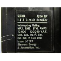 I-T-E Siemens  Q230 Circuit Breaker Single Pole