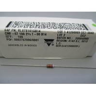 Vishay Dale RL07S101GB14 1/4watt 100ohms 2% Resistor qty 100 new