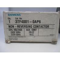 Siemens 3TF4001-0AP6 Contactor new