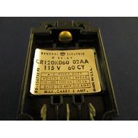 GE General Electric Relay CR120K060