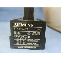 Siemens 3TX4 402-2A Aux Contact Block new
