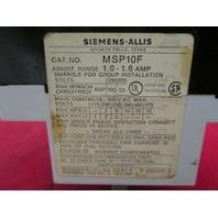 Siemens MSP10F Manual Starter