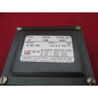 United Electric J7 258 9691 Pressure Switch