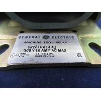 General Electric CR2810A14AJ Machine Tool Relay