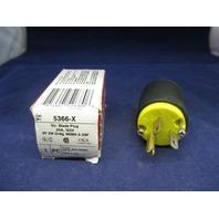 Pass & Seymour Str. Blade Plug 5366-X new
