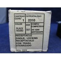 Leviton Receptacle Single Locking 2310 20A-125V new