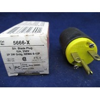 Pass & Seymour 5666-X Str. Blade Plug new