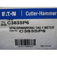 Cutler Hammer C383SP6 Space Marking Tag new