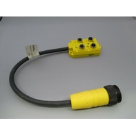 Lumberg ASB 4/LED 5/4-12RS120M/1F Sensor Distribution Box