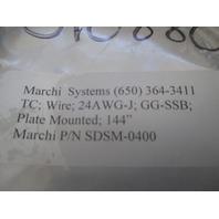 "Marchi System SDSM-0400 type J thermocouple 144"" long"