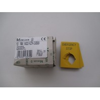 Moeller M22-XZK-GB99 Emergency Stop Label qty 10 new