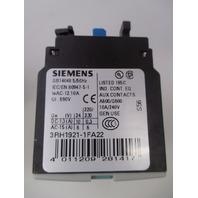 Siemens 3RH1921-1FA22 Auxiliary Contact Block new