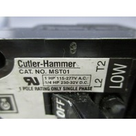 Cutler-Hammer Circuit Breaker MST01 C130523 STARTER MANUAL