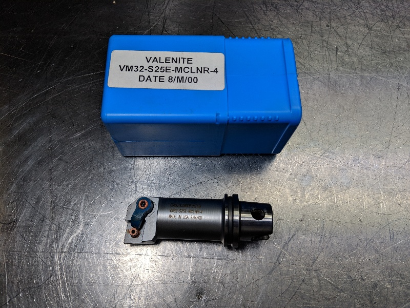 Valenite VM/KM 32 Indexable Coolant Thru Boring Bar VM32-S25E-MCLNR-4 (LOC203B)