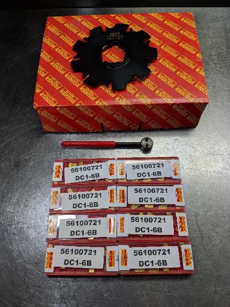 """Sandvik 5.5"""" Slot Cutter 1.5"""" Arbor w/ 60 Inserts X021000X (LOC235)"""