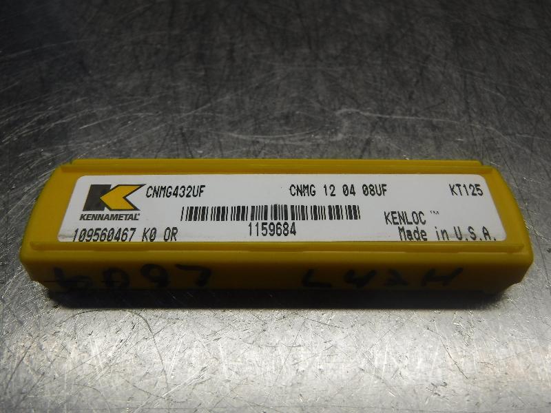 Kennametal Cermet Inserts QTY5 CNMG432UF / CNMG 12 04 08UF KT125 (LOC293B)