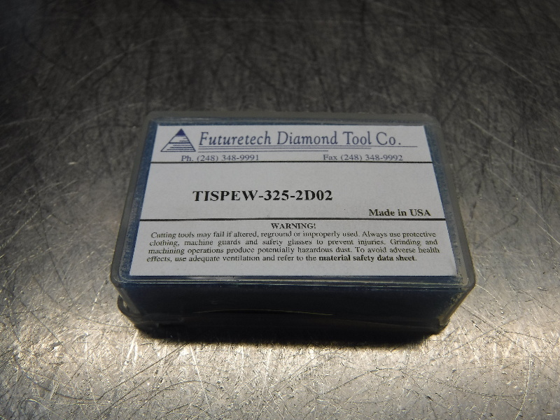 Futuretech PCD Diamond Tipped Carbide Inserts QTY2 SPEW-325-2D02 (LOC318B)
