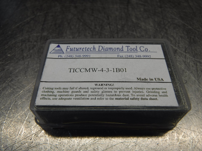 Futuretech PCBN Diamond Tipped Carbide Inserts QTY2 CCMW-4-3-1B01 (LOC318B)
