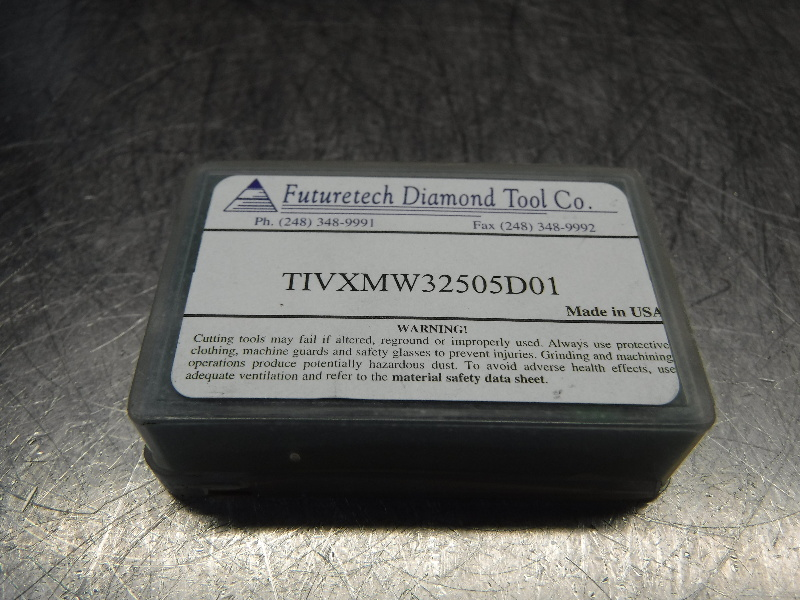Futuretech PCD Diamond Tipped Carbide Inserts QTY2 VXMW32505D01 (LOC318B)