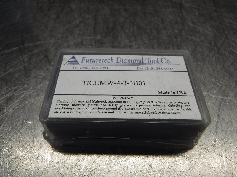 Futuretech PCBN Diamond Tipped Carbide Inserts QTY2 CCMW-4-3-3B01 (LOC322)