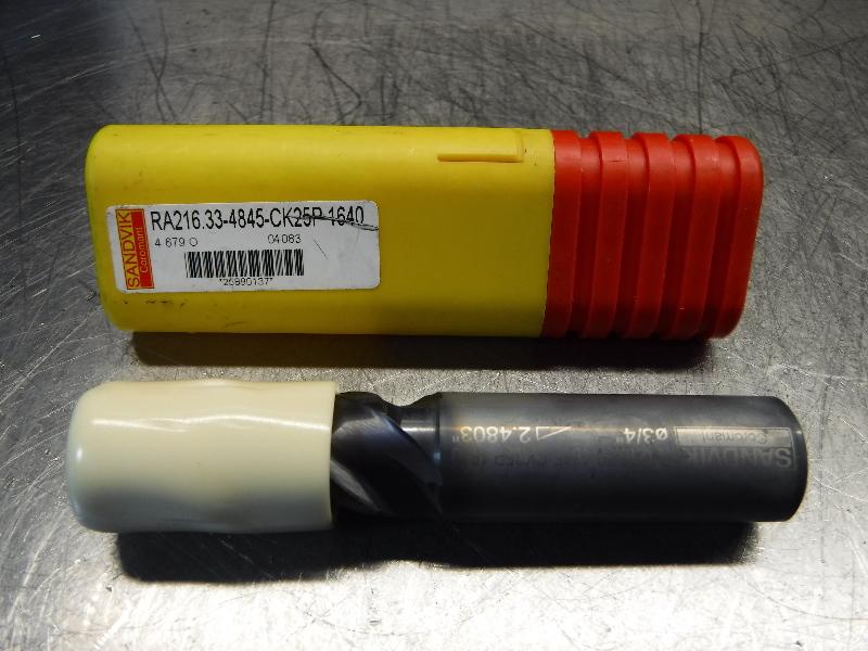 "Sandvik 3/4"" Square Shoulder Carbide Drill RA216.33-4845-CK25P 1640 (LOC398A)"