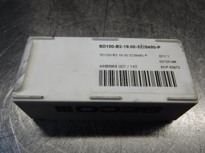 Seco Carbide Tip Drill Inserts QTY2 SD100-B2-19.00-3228480-P (LOC968B)
