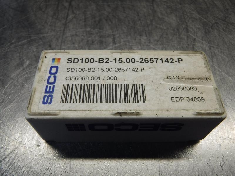 Seco Carbide Tip Drill Inserts QTY2 SD100-B2-15.00-2657142-P (LOC968B)