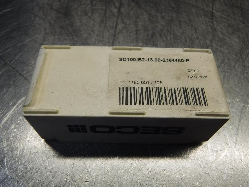 Seco Carbide Tip Drill Inserts QTY2 SD100-B2-13.00-2364480-P (LOC968B)