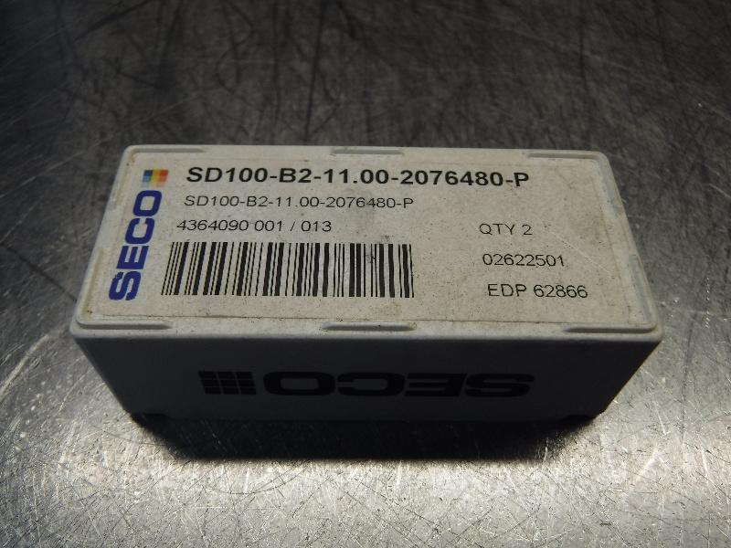 Seco Carbide Tip Drill Inserts QTY2 SD100-B2-11.00-2076480-P (LOC968B)