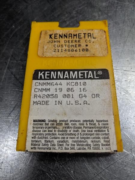 Kennametal Carbide Inserts Qty5 K1481204 KC810 LOC2083B