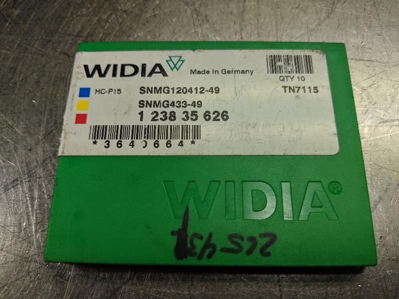 Widia Carbide Inserts QTY:10 SNMG 120412-49 / SNMG 433-49 TN7115 (LOC2980B)