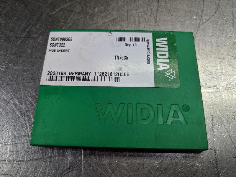Widia Carbide Inserts QTY:10 SDNT 090308 / SDNT 322 TN7535 (LOC2980B)