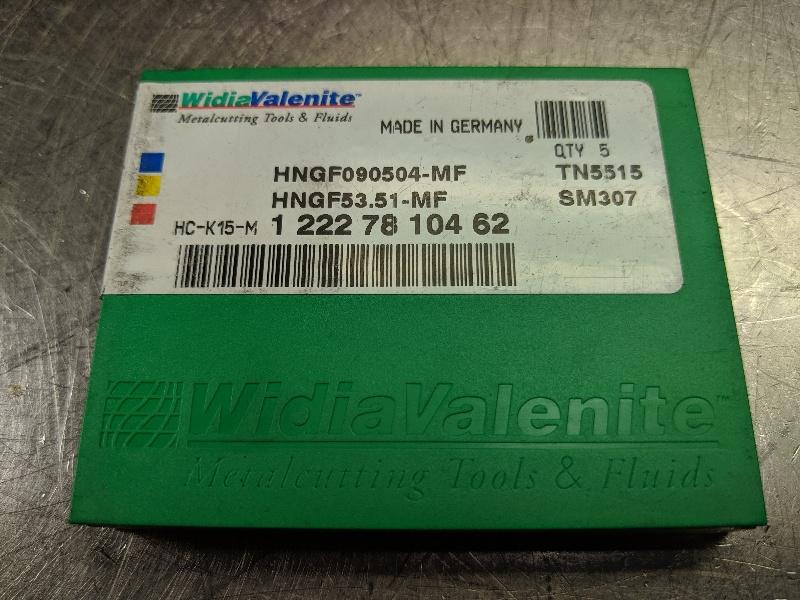 Widia Carbide Inserts QTY:5 HNGF 090504-MF / HNGF 53.51-MF TN5515 (LOC2980B)