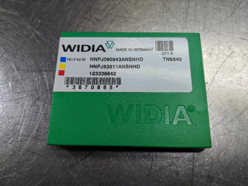 Widia Carbide Inserts QTY:5 HNPJ090543 ANSNHD/ HNPJ53511ANSNHD TN6540 (LOC2980B)