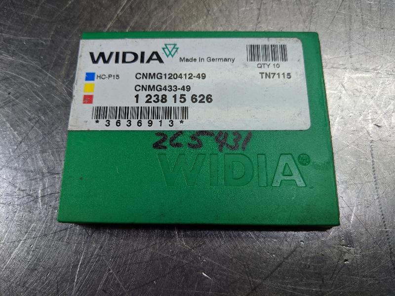 Widia Carbide Inserts QTY:10 CNMG 120412-49 / CNMG 433-49 TN7115 (LOC2980B)