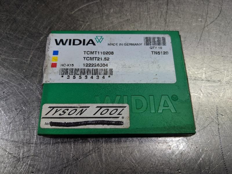Widia Carbide Inserts QTY:10 TCMT 110208 / TCMT 21.52 TN5120 (LOC2979B)