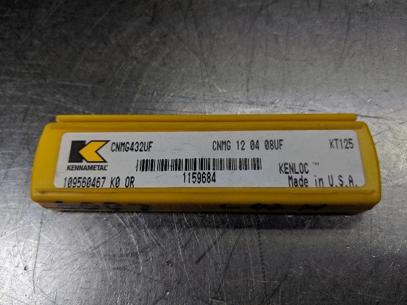 Kennametal Cermet Insert QTY: 5 CNMG 120408UF / CNMG 432UF KT125 (LOC2978A)