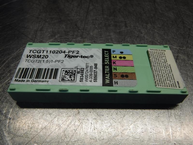 Walter Carbide Inserts QTY10 TCGT110204-PF2 / TCGT2(1.5)1-PF2 WSM20 (LOC994B)