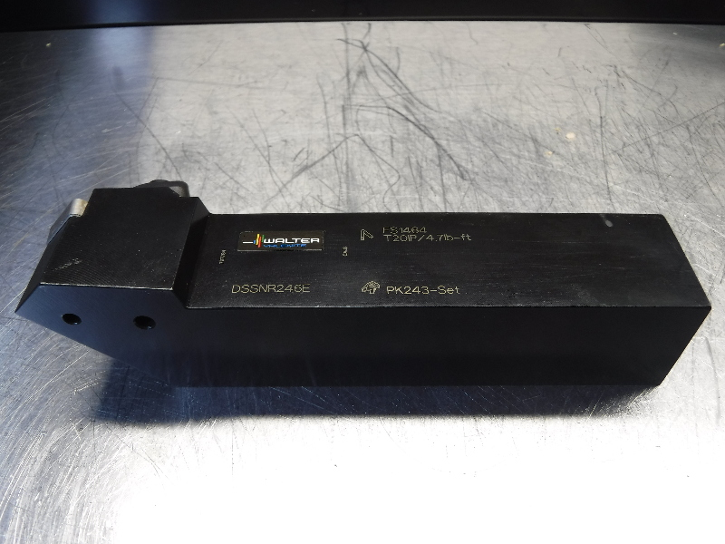 """Walter 1.5"""" x 1.5"""" Indexable Lathe Tool Holder DSSNR246E (LOC1023C)"""