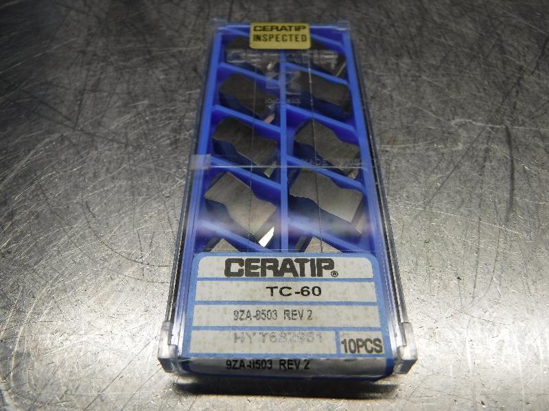 Kyocera Ceratip Cermet Inserts QTY10 9ZA-8503 REV2 TC-60 (LOC1001A)