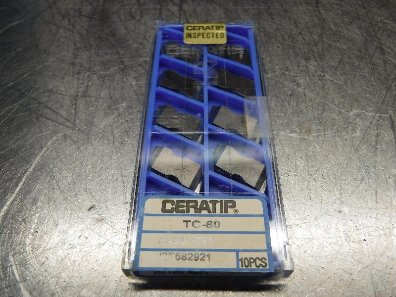 Kyocera Ceratip Cermet Inserts QTY10 9ZA-8502 REV.1 TC-60 (LOC1001A)