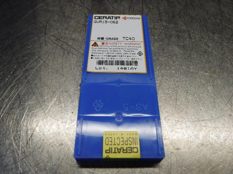 Kyocera Ceratip Cermet Inserts QTY10 GVR15-062 TC40 (LOC1001A)