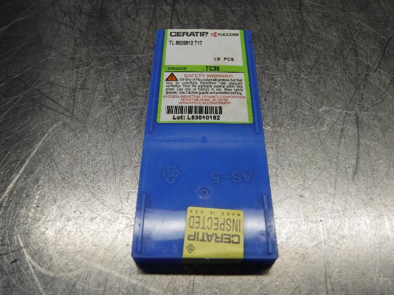 Kyocera Ceratip Cermet Inserts QTY10 TL 8626812 T17 TC30 (LOC1003C)