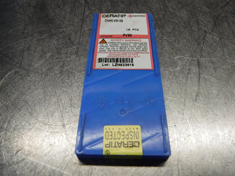 Kyocera Ceratip Cermet Inserts QTY10 DNMG 433 GS PV90 (LOC1003C)