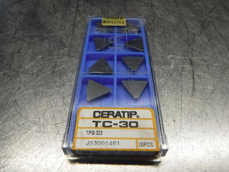Kyocera Ceratip Cermet Inserts QTY10 TPG 323 TC-30 (LOC1003C)